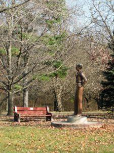 Amelia Earhart Statue