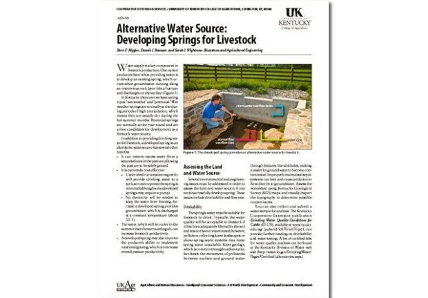 Alternative Water Source