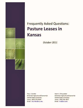 Frequently Asked Questions: Pasture Leases in Kansas