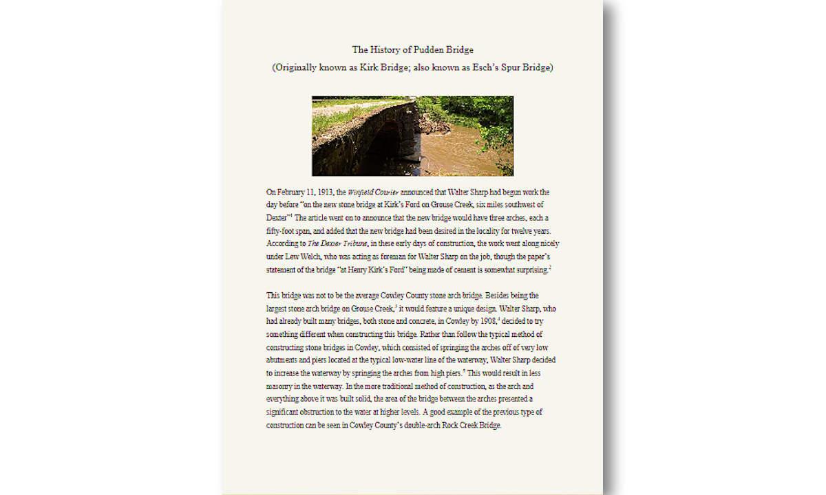 The History of Pudden Bridge